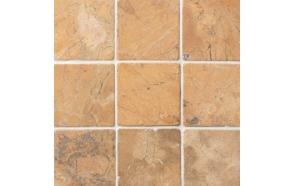 Square Mustard marble 100x100mm, no mesh