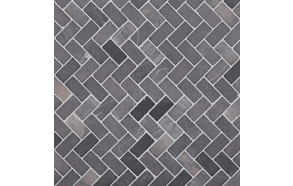 Herringbone Grey marble