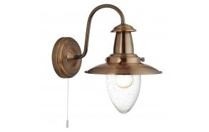wall lamp Fisherman, copper,E27 1X60W