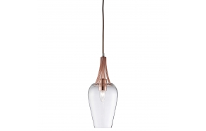 ceiling lamp copper+glass, E27, 1X60W