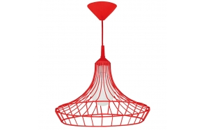 metal ceiling lamp, red, E27 1X60W
