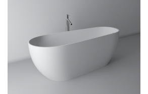 Silvio,170x70,white,with built-in overflow