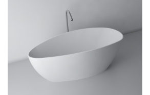 Rita XL,170x70,white,with built-in overflow