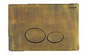 flush plate Drop, old bronze