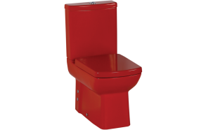 back to wall wc Lara, red, without seat (LR360.70+LR410.70+IT5130)