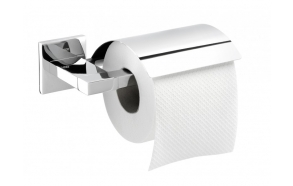 toilet paper roll holder with lid ITEM, chrome, no screw assembling