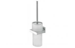 toilet brush with holder ITEM, chrome, no screw assembling