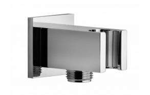 SQUARE SHAPE SHOWER BRACKET WITH WATER OUTLET, BRASS