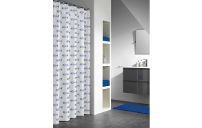 NEMO shower curtain vinyl, blue,180x200cm