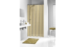 HAMMAM shower curtain vinyl, gold,180x200cm