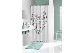 IMAG shower curtain textile, multicolour 180x200cm