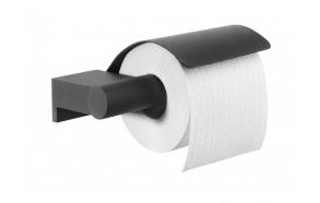 BOLD toilet paper roll holder, black, no screw assembling