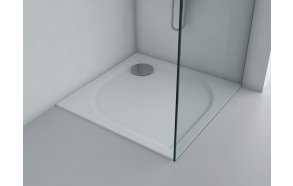 cast stone shower tray 70x70,90 mm drain