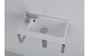 cast stone basin Ida, white