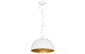 ceiling lamp white+gold, E27,1X40W