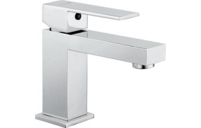 LATUS basin mixer without pop up waste, chrome