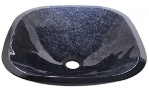 MAGIC square glass washbasin 42x42cm