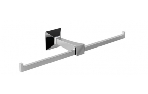 FIRENZE Double Toilet paper holder, chrome