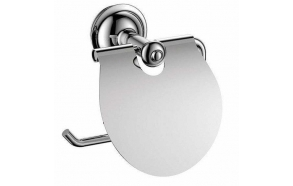 ASTOR Toilet paper holder with cover, chrome