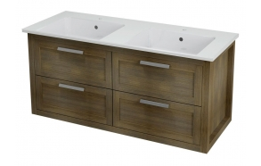 LARITA vanity unit 120x55x48cm,oak wood, graphite (no basin)