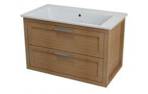 LARITA vanity unit 86x55x48cm,oak wood, natural (no basin)