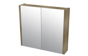 LARITA mirror cabinet 80x70x17cm,oak graphite