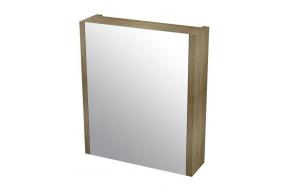 LARITA mirror cabinet 60x70x17cm,oak graphite
