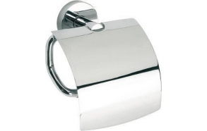 OMEGA E Toilet paper holder with cover, chrome
