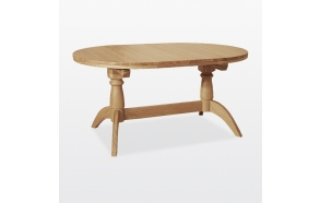 Double pedestal extending table 2 leaves inside