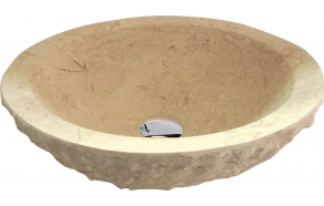 BLOK stone washbasin 45x15cm, rough stone, light