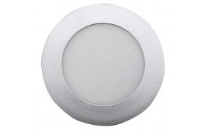 START LED Recessed Ceiling Light, 6W, 230V, 120mm, day white, 390lm, silver
