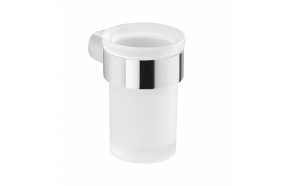 PIRENEI Tumbler Holder, chrome/glass satin