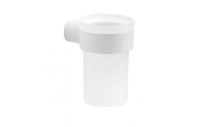 PIRENEI Tumbler Holder, white matt/glass satin