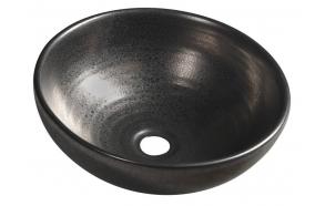 ATTILA ceramic washbasin diameter 42,5 cm, metallic copper