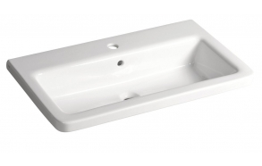 CITY Ceramic Washbasin square 80x18x45cm