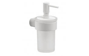 PIRENEI Soap Dispenser, white matt/glass satin