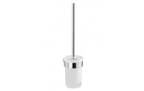 PIRENEI Wall Hung Toilet Brush/Holder, chrome/glass satin