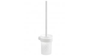 WC hari+hoidja Pyrene, matt valge/matt klaas