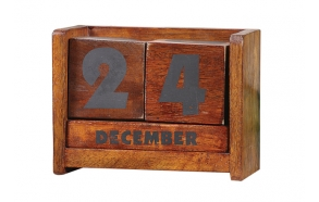 "7""L Wood Calendar Blocks"
