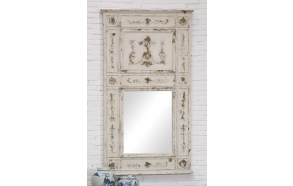 "34-1/2""L x 61""H Wood Framed Mirror, (Finish Will Vary)"