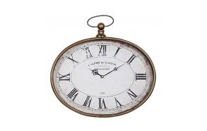 """16-1/4""""L x 16""""H Metal Pocket Watch Wall Clock"""