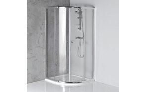 ARLETA quadrant shower enclosure 900x900mm, pure glass