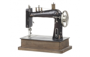 "12""L x 11-3/4""H Decorative Metal Sewing Machine"