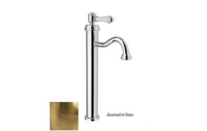 LONDON II basin mixer high without pop up waste, bronze