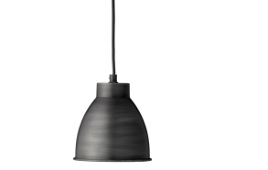 Hanging lamp w/black shade