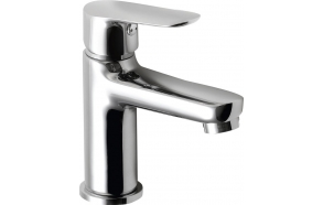 SMALL basin mixer without pop up waste, 26mm, chrome