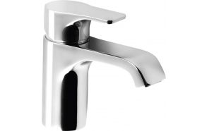 SMALL basin mixer without pop up waste, chrome