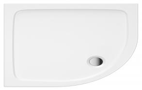 100x80 kumer kivimassist dušialus, vasak nurk, esipaneeli, jalgade ja sifooniga S0032+ 1711C+S0043(KQ4)