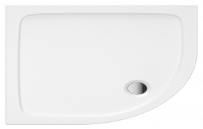 120x80 quadrant stone shower tray, left corner, incl front panel, feet and waste S0036+ 1711C+S0043(KQ4)