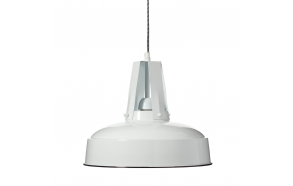 metal industrial pendant lamp, white
